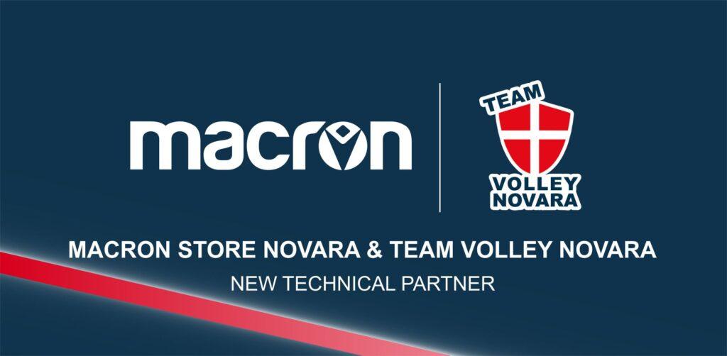 macron sponsro Team Volley Novara